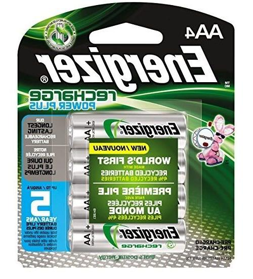 4/pack AA Energizer Rechargeable NiMH AA4 Recharge 2300mAh