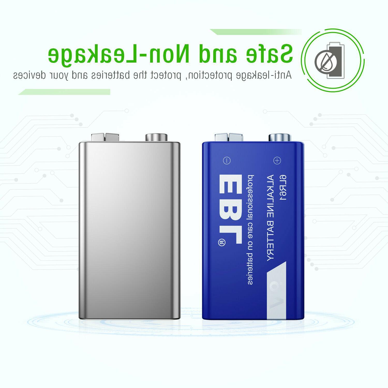 4pcs 9-Volt Alkaline Battery 6LR61 9V Heavy Duty