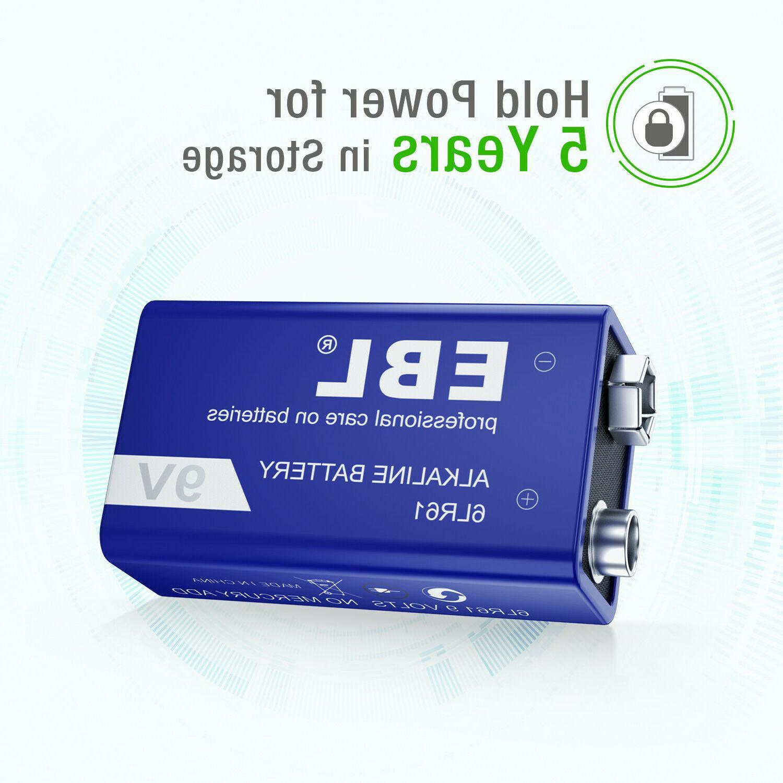 4pcs EBL Alkaline Heavy 0%