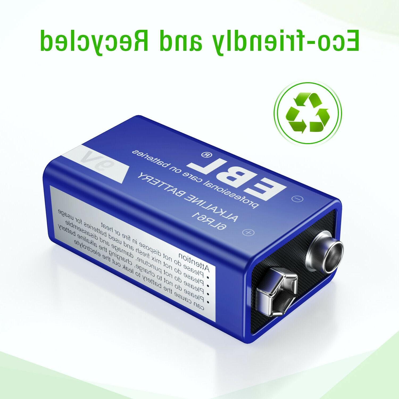 4pcs EBL Battery Heavy Duty 0%