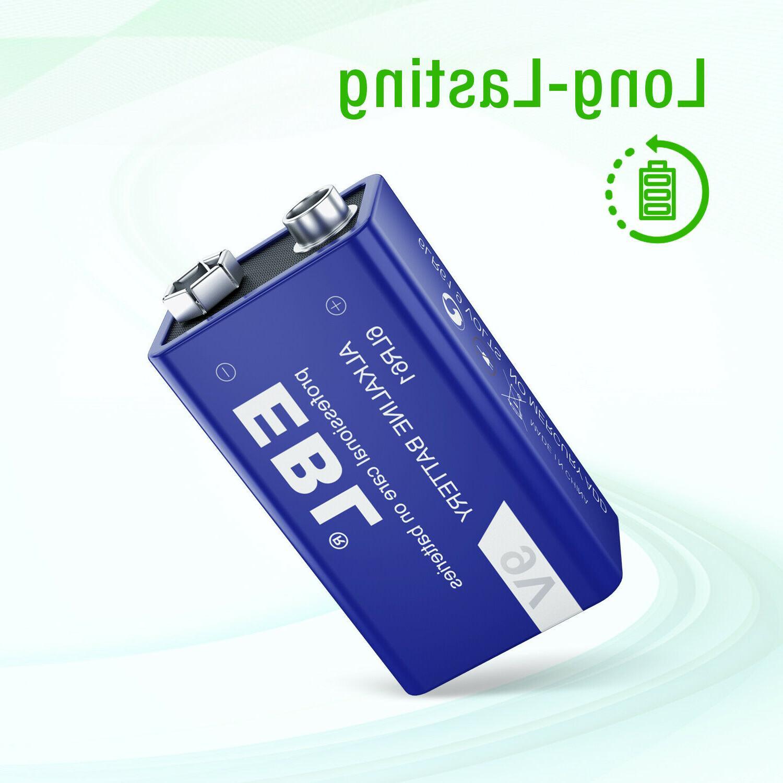 4pcs EBL 9-Volt Alkaline Battery Heavy