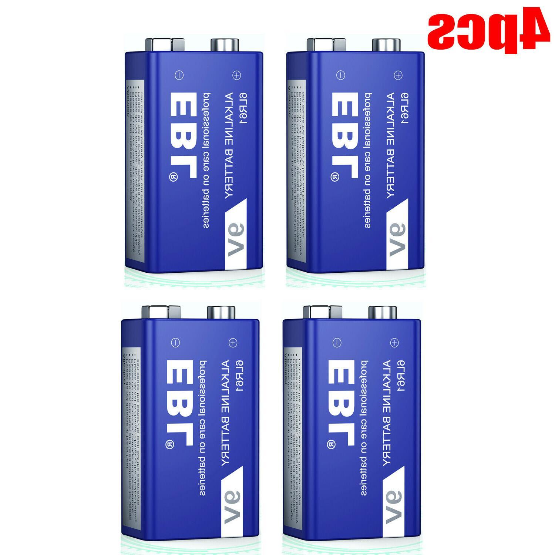 4pcs 9 volt alkaline battery 6lr61 4