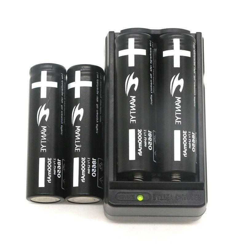 4Pcs Li-ion Battery with 3.7V Rechargeable Batteries