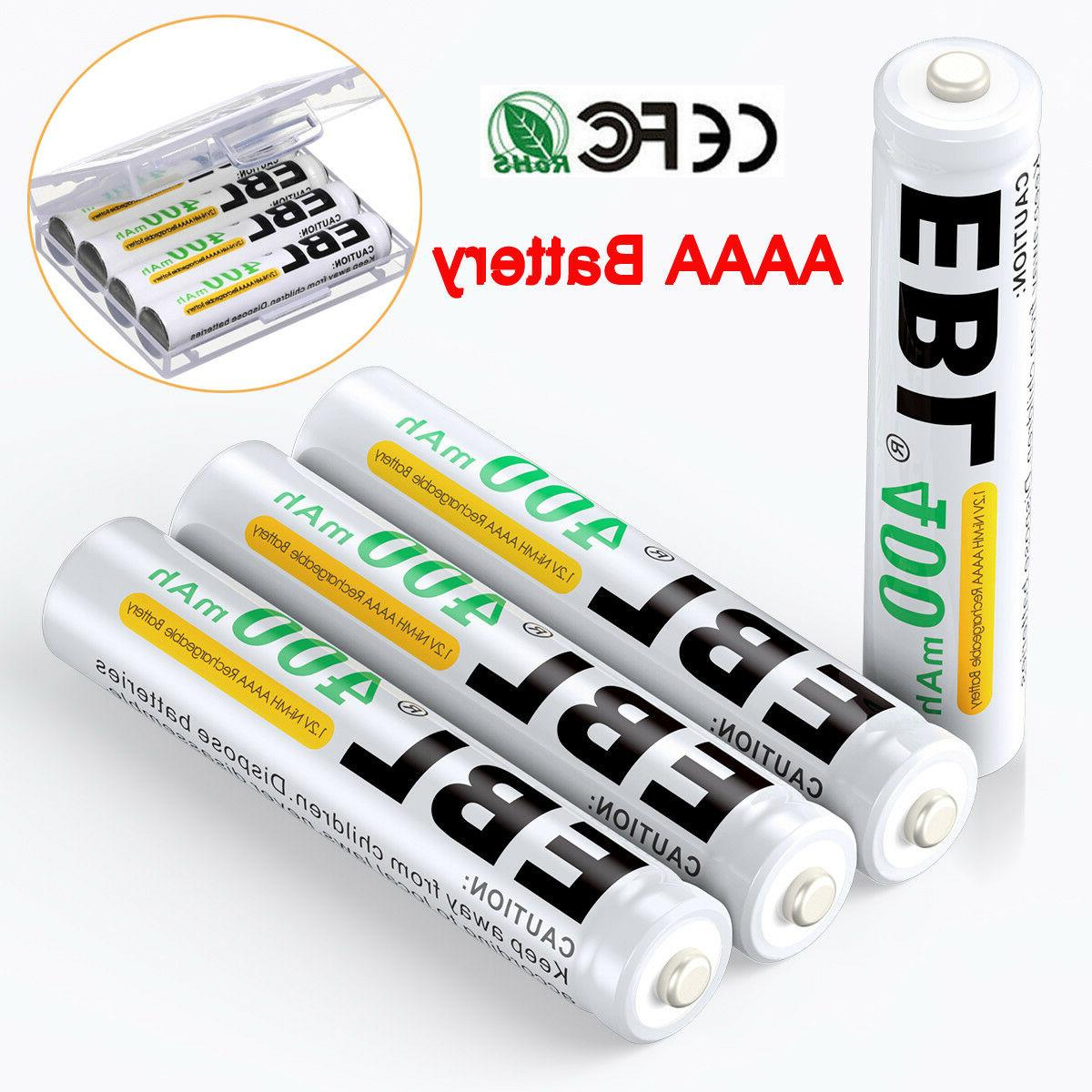 4x400mah ni mh rechargeable aaaa batteries replace