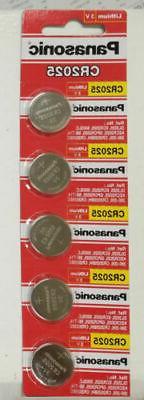 5 Batteries-Panasonic CR2025 DL2025 ECR2025 3V Lithium Coin