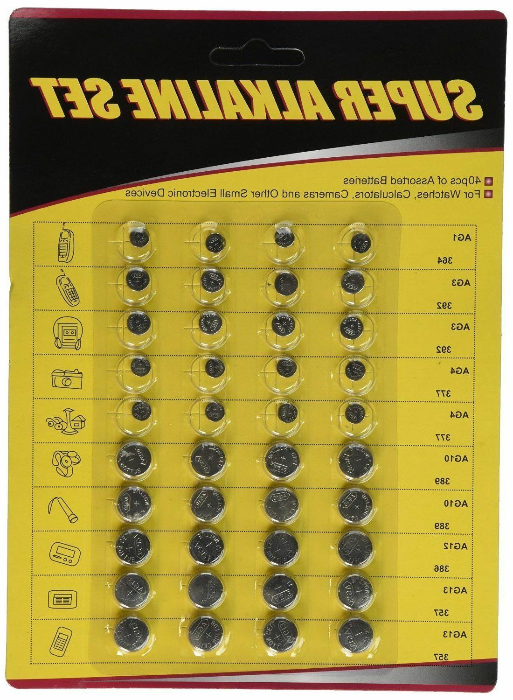 5 PACKS- PCS Assorted Batteries Set Cell
