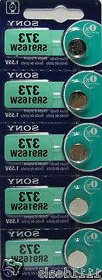 5 Pcs Sony 373 SR916SW 1.55V Silver Oxide 0%Hg Watch Batteri