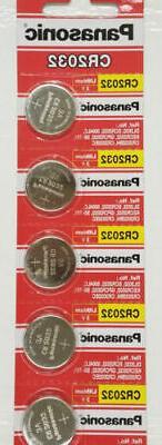 5 x Fresh PANASONIC CR2032 2032 3V Lithium Coin Battery Expi