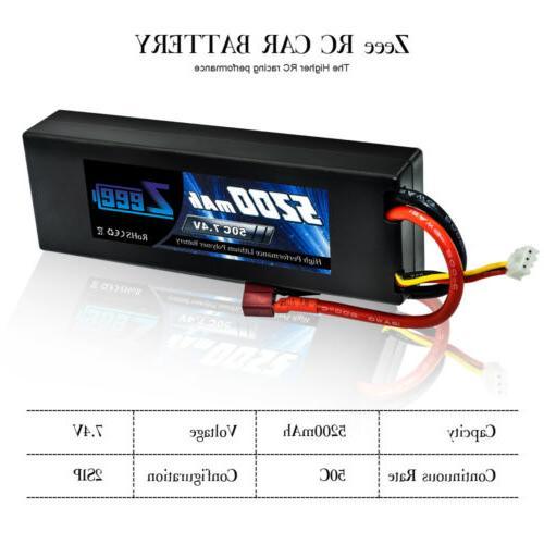 2pcs Zeee 7.4V Battery Deans Car Truck