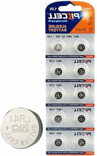 50x LR41 AG3 L736 392A SR736 Alkaline Button Cell thermometer battery
