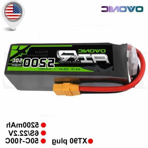 OVONIC 5200mAh 6S 22.2V 50C Lipo Battery Pack XT90 for RC Ca