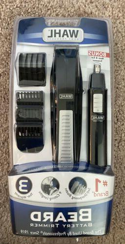 5537 1801 cordless battery operated beard trimmer