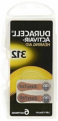 60 PACK Duracell Activair Easy Tab Long Hearing Aid Battery