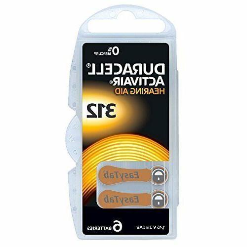60 Pieces Long Lasting Easy Tab Hearing Aid Zinc Air Batteri