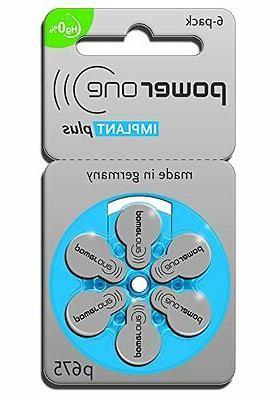 60 powerone mercury free hearing aid batteries