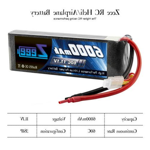6000mAh Deans XT60 for Truck Helicopter