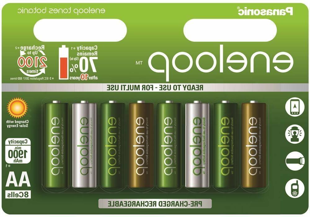 8 x Panasonic Eneloop Botanic AA Battery 1900mAh Ni-MH recha