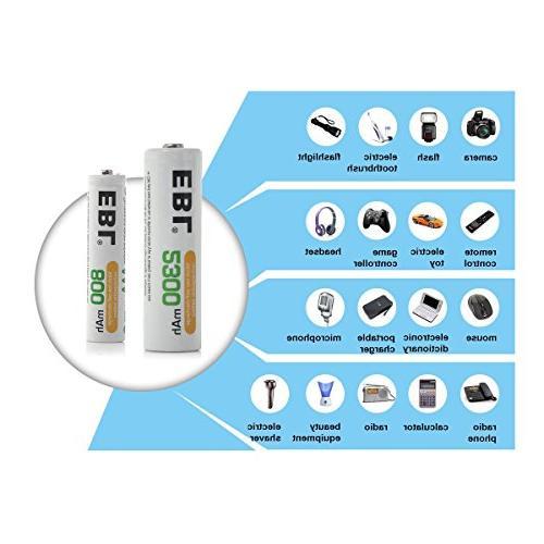 EBL 16 Sets AAA Combo 8PCS 8-Pack Batteries