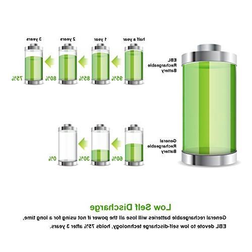 EBL 16 AA AAA Batteries 8PCS 2300mAh 8-Pack Batteries
