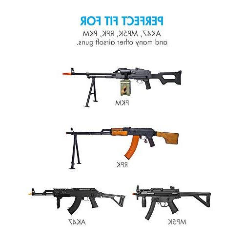 Tenergy 1600mAh NiMH High Batteries w/Mini for Airsoft Rifles