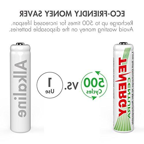 Tenergy Centura AAA Battery, 800mAh A Battery, Pre-Charged AAA Batteries Pack for Solar