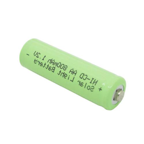 8x 2A 800mAh 1.2V Rechargeable Battery For Garden Green