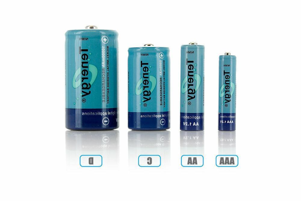 Tenergy AA/AAA/C/D/9V Capacity Cells