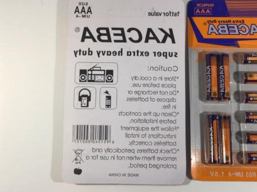 AAA Value Pack Carbon Extra Duty Mercury Free