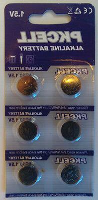 AG10 LR1130 1.5 Volt Button Cell Alkaline Battery Pack of 6