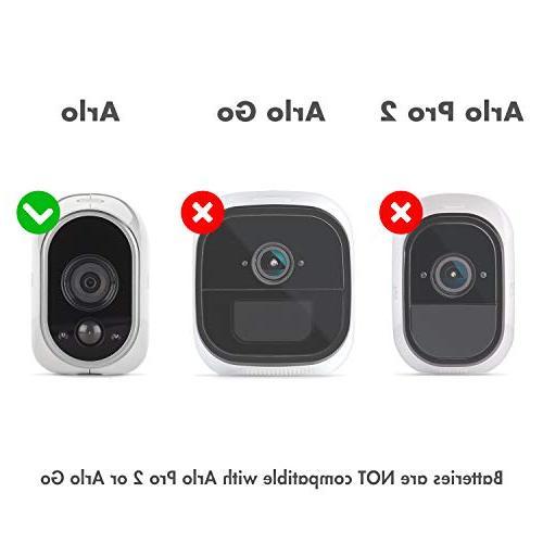 Li-ion Arlo Security Cameras 650mAh RCR123A 12 Pack, Cases