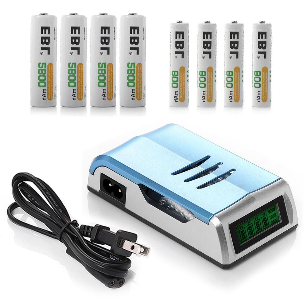 LCD Charger 4 AA 4 Rechargeable Batteries