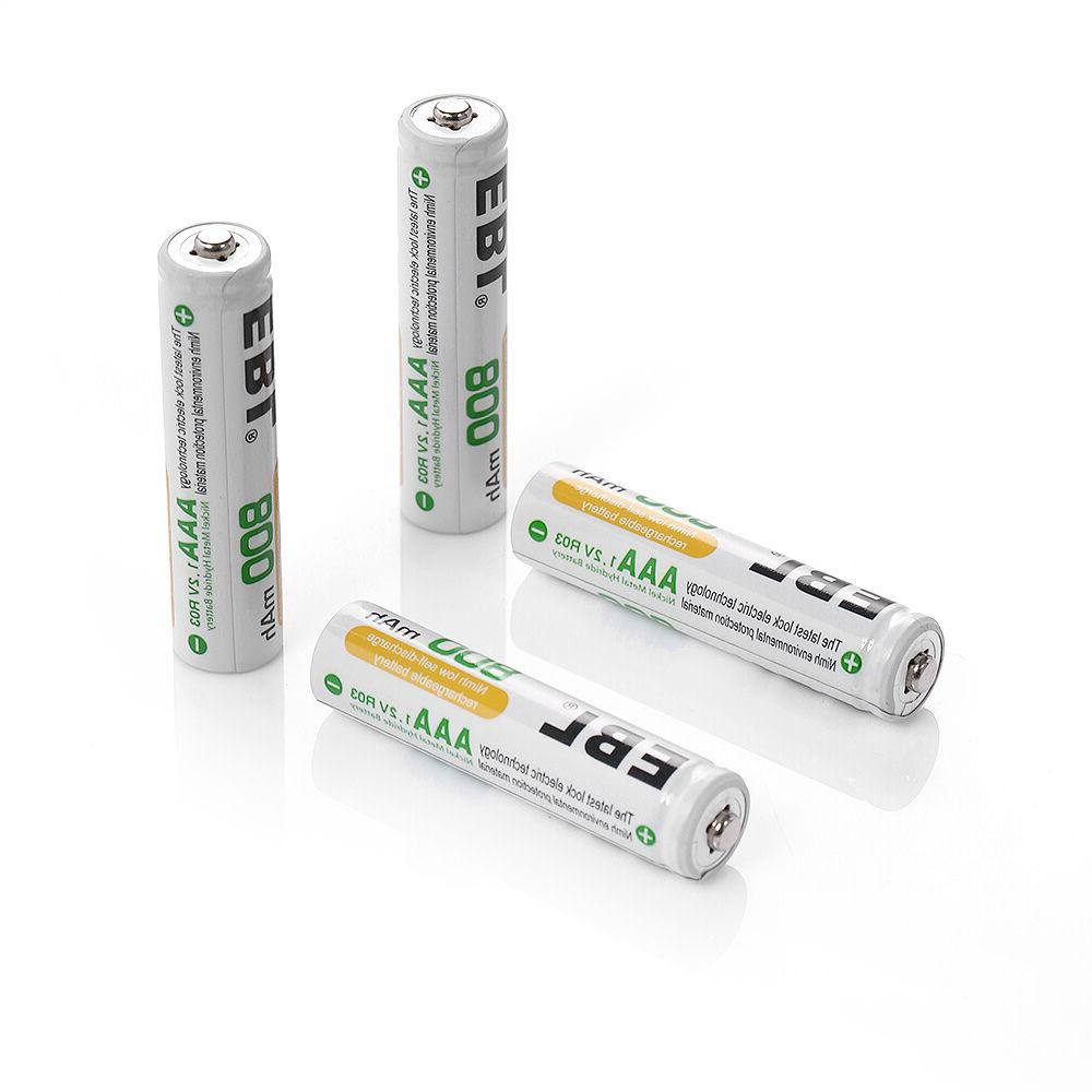 LCD Charger 4 AA 2800mAh and 4 Rechargeable