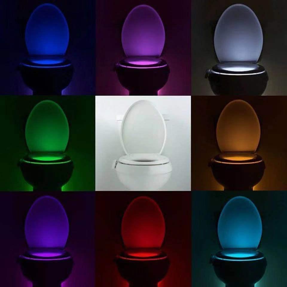Bowl Bathroom LED 8 Color Lamp Sensor Lights Light