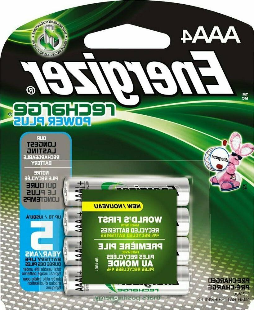 BRAND NEW ENERGIZER AAA Rechargeable NiMH Batteries 4 Pack 8