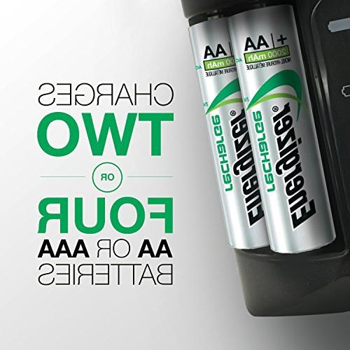 Energizer Rechargeable AA and AAA Battery Charger 4 Batteries