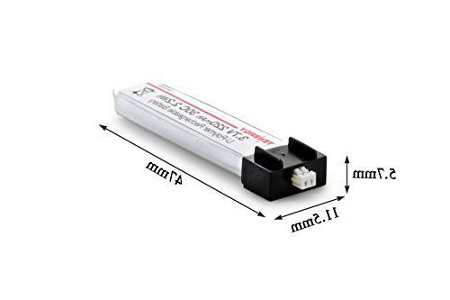 Combo: Tenergy 3.7V 220mAh 30C LiPo for FPV