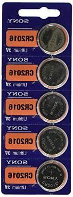 Sony CR2016 3 Volt Lithium Batteries Genuine Coin Cell  + Tr