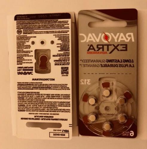 Rayovac Mercury Free Aid Batteries cells