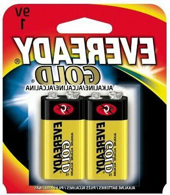 pack of 2 gold alkaline batteries 9