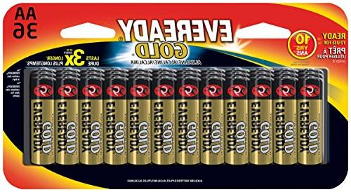 Eveready Gold AA Batteries, 36