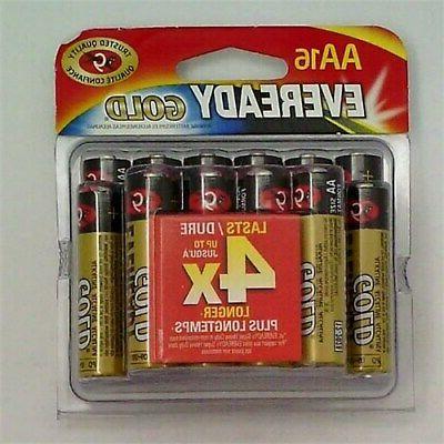 gold alkaline aa batteries 16 count