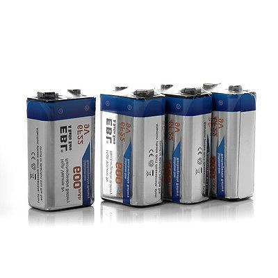 4x EBL Li-ion Rechargeable Battery 9-Volt