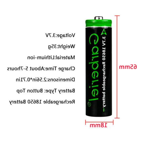 10PCS 3000mAh Li-ion Lithium Battery+2x Charger for Flashlight