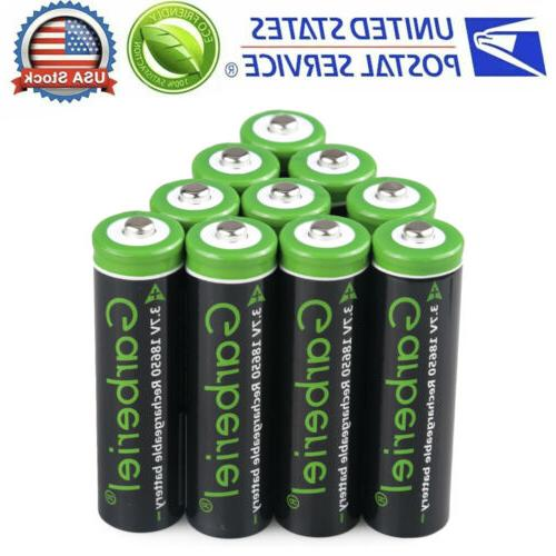 10PCS 3.7V 3000mAh Lithium Rechargeable Charger for