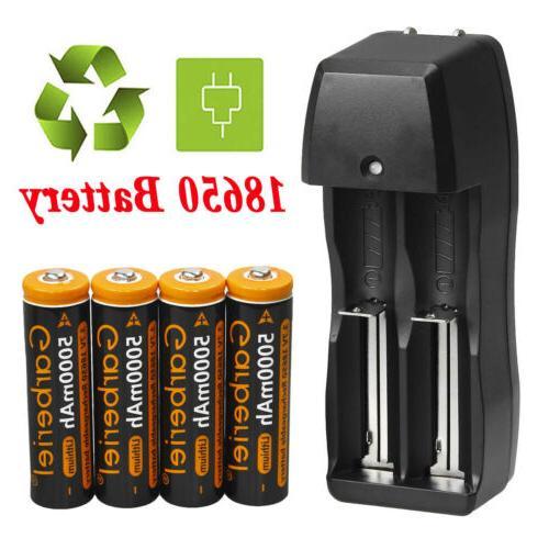 4PCS Garberiel Rechargeable 18650 Battery Li-ion 3.7V 5000mA