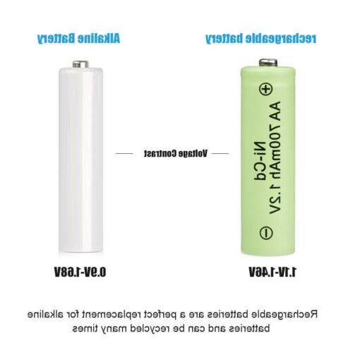20 Batteries NiCD 1.2v Garden Solar Ni-CD LED