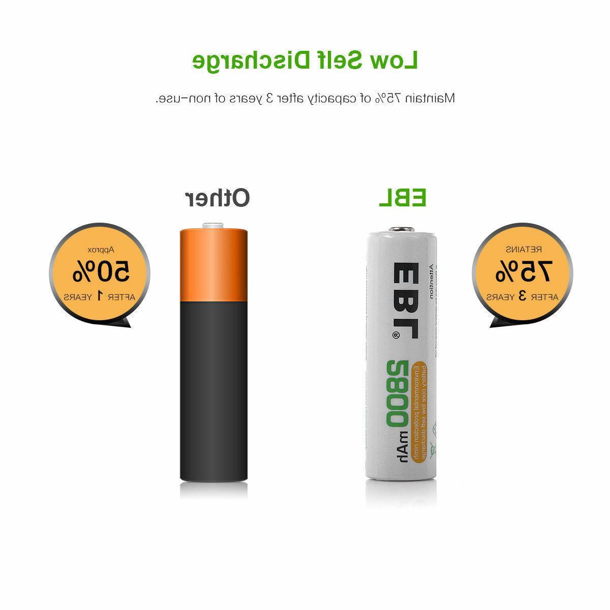 Lot Ni-MH Batteries Slot Smart for Flashlight