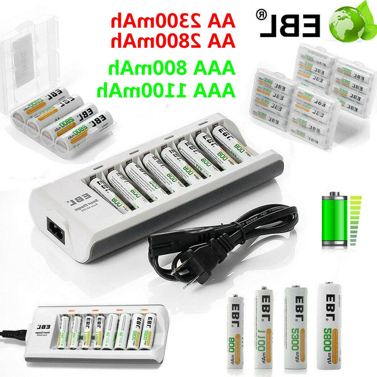 lot aaa aa ni mh rechargeable batteries