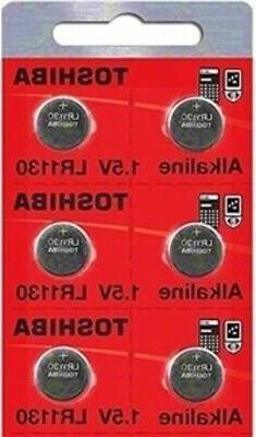 LR1130 AG10 189 1130 LR54 Pack Of 6 Toshiba Button Cell Batt