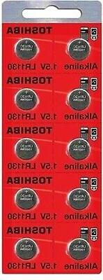 LR1130 AG10 189 1130 LR54 Pack Of 10 Toshiba Button Cell Bat